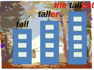 tall taller the tallest