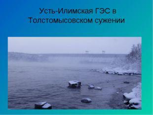Усть-Илимская ГЭС в Толстомысовском сужении