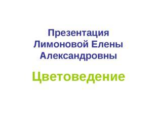 Презентация Лимоновой Елены Александровны Цветоведение
