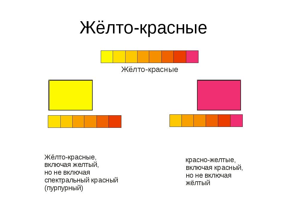 Жёлто-красные