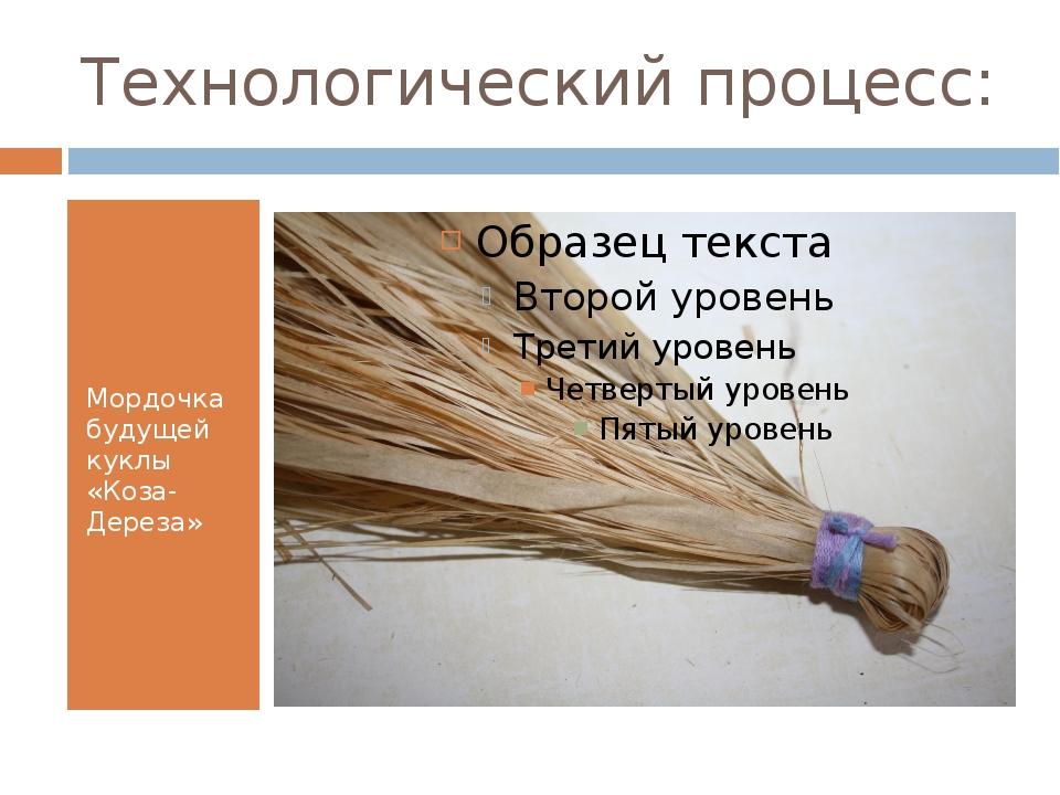 Технологический процесс: Мордочка будущей куклы «Коза-Дереза»