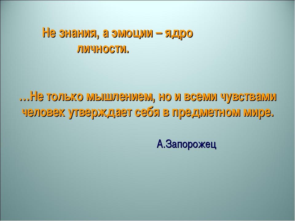 …Не только мышлением, но и всеми чувствами человек утверждает себя в предметн...