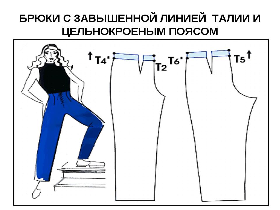 Сшить брюки на поясе 34