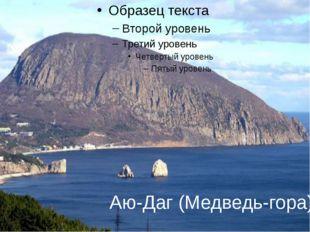 Аю-Даг (Медведь-гора) Аю-Даг (Медведь-гора),расположенана границе между Бо