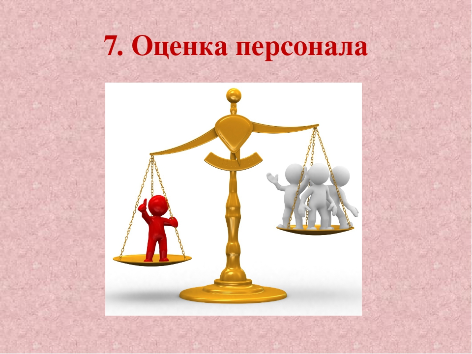 7. Оценка персонала