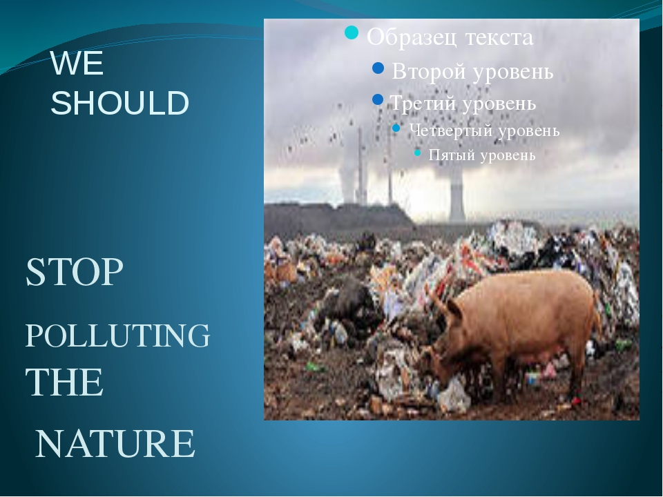 WE SHOULD STOP POLLUTING THE NATURE