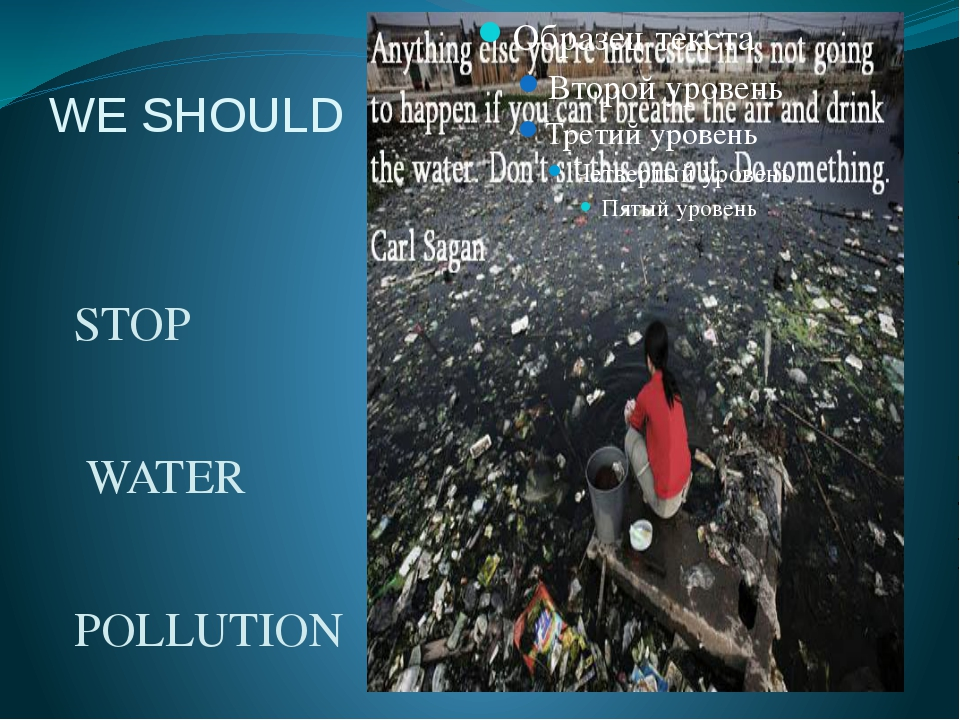 WE SHOULD STOP WATER POLLUTION