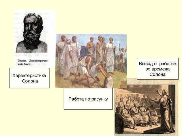 Характеристика Солона Работа по рисунку Вывод о рабстве во времена Солона