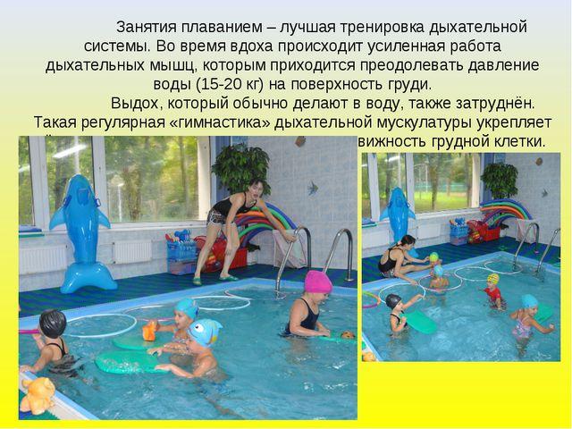 Занятия плаванием – лучшая тренировка дыхательной системы. Во время вдоха пр...