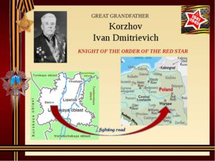 Korzhov Ivan Dmitrievich GREAT GRANDFATHER KNIGHT OF THE ORDER OF THE RED STA