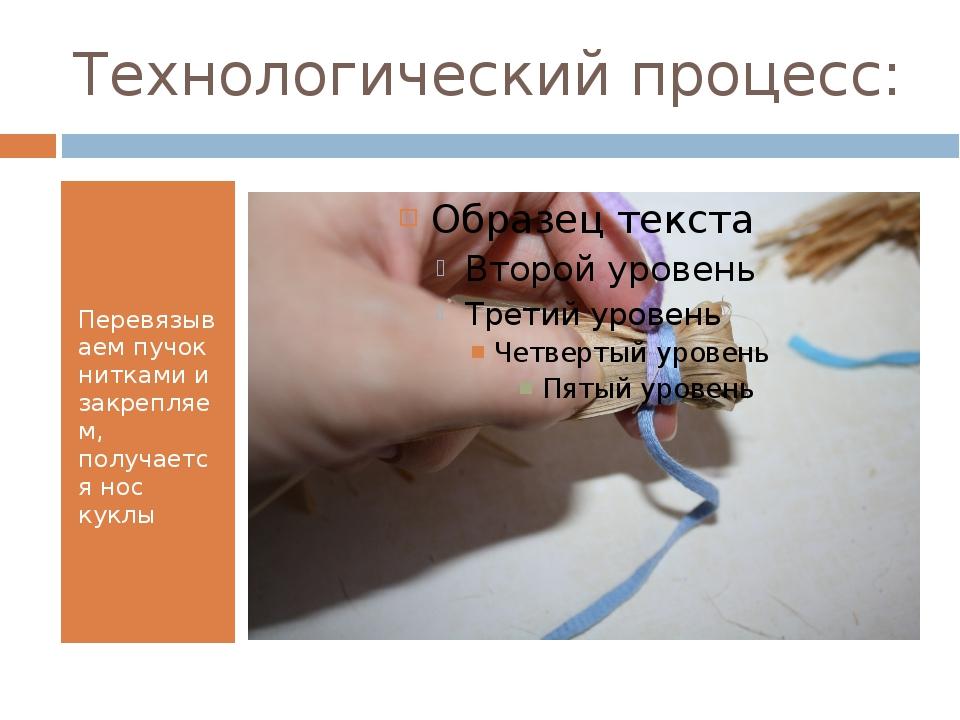 Технологический процесс: Перевязываем пучок нитками и закрепляем, получается...