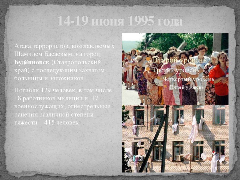 14-19 июня 1995 года Атака террористов, возглавляемых Шамилем Басаевым, на го...