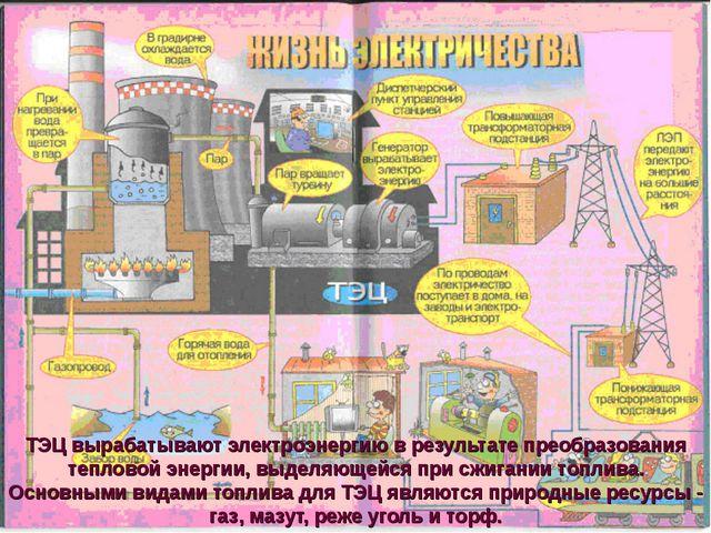 ТЭЦ вырабатывают электроэнергию в результате преобразования тепловой энергии,...