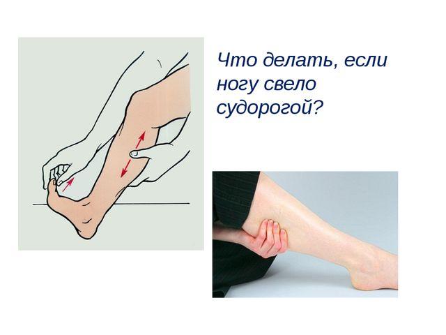 Что делать, если ногу свело судорогой?