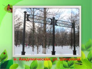 Парк отдыха «Новые Черемушки» м. Академическая, ул. Шверника