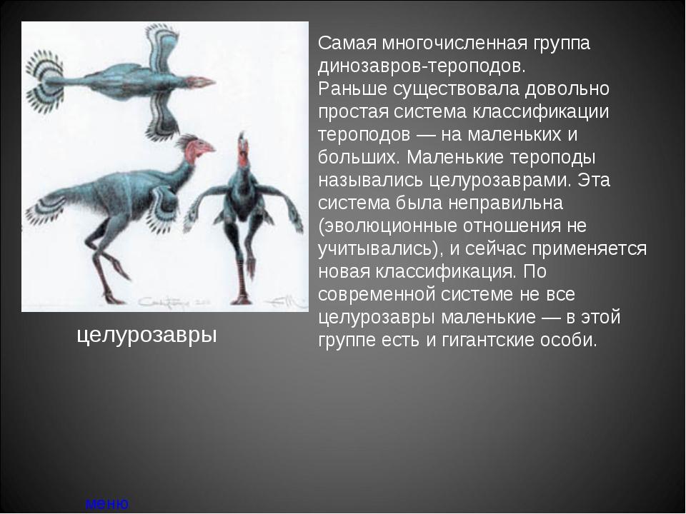 Самая многочисленная группа динозавров-тероподов. Раньше существовала довольн...