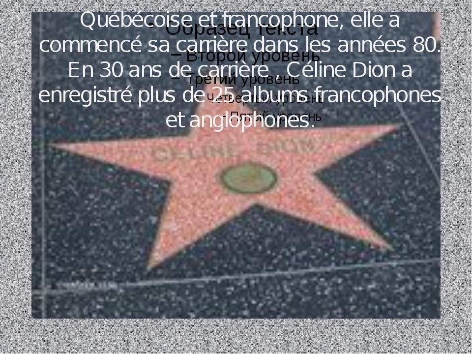 Québécoise et francophone, elle a commencé sa carrière dans les années 80. En...