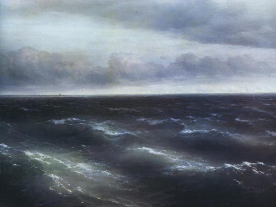 """За внешним реализмом этого полотна скрывается глубочайшая метафизика. """"Море""""..."""