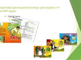 Мониторинговый дистанционный конкурс для учащихся 1-4 классов ЭМУ-эрудит.