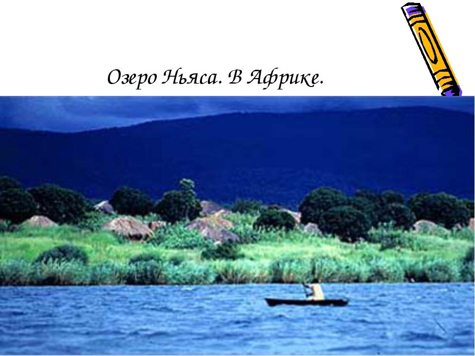 Озеро Ньяса. В Африке.