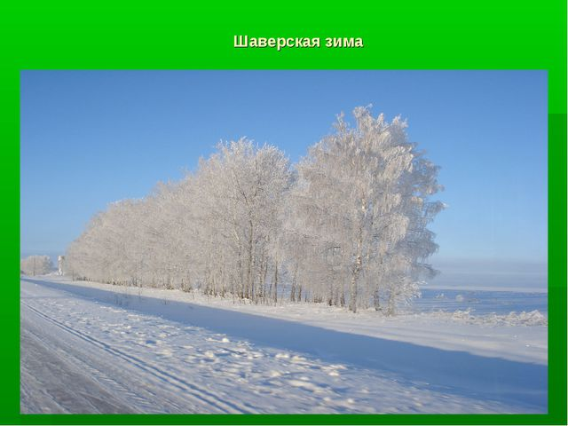 Шаверская зима