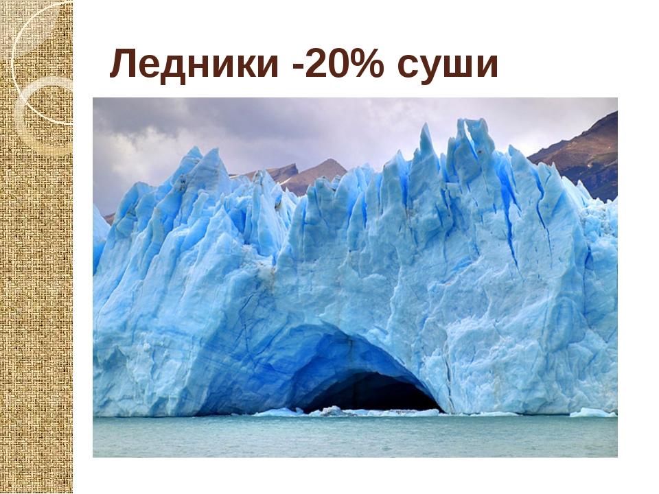 Ледники -20% суши