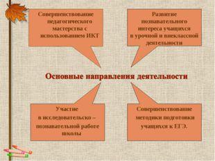 Совершенствование педагогического мастерства с использованием ИКТ Развитие по