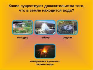Какие существуют доказательства того, что в земле находится вода?
