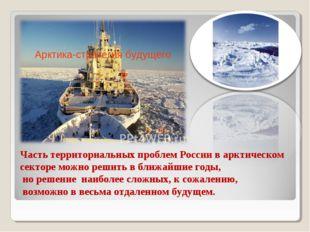 Часть территориальных проблем России в арктическом секторе можно решить в бли