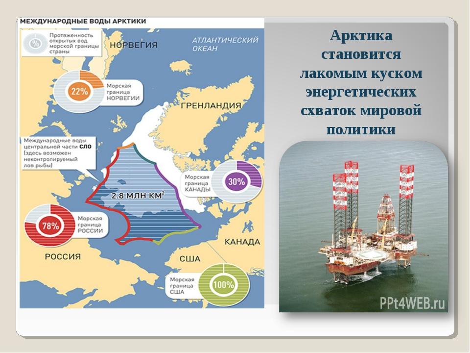 Арктика становится лакомым куском энергетических схваток мировой политики