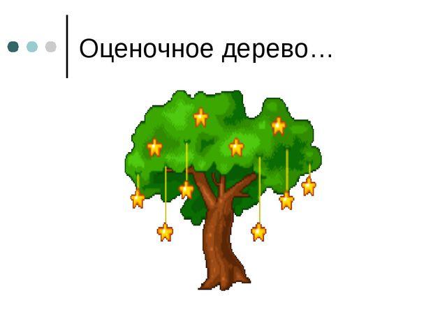 Оценочное дерево…