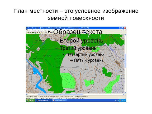 План местности – это условное изображение земной поверхности