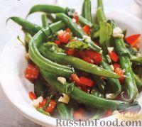 Фото к рецепту: Стручковая фасоль с болгарским перцем