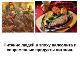 Питание людей в эпоху палеолита и современные продукты питания.