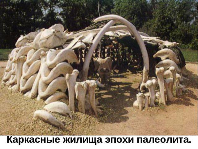 Каркасные жилища эпохи палеолита.