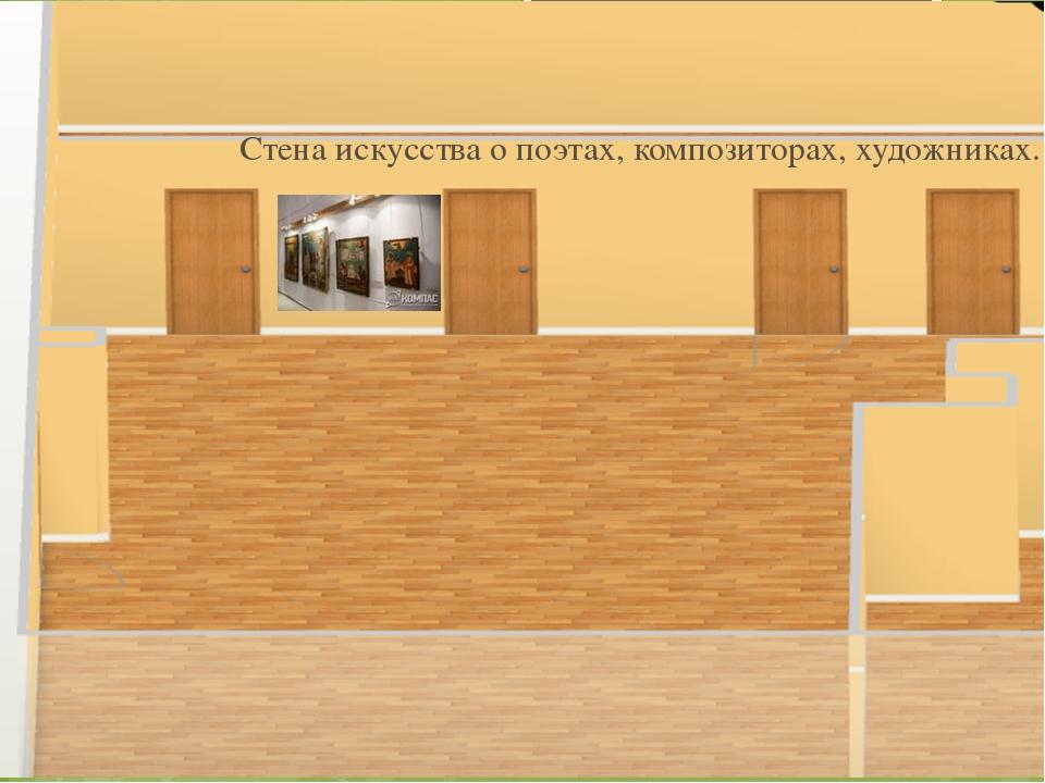 Стена искусства о поэтах, композиторах, художниках.