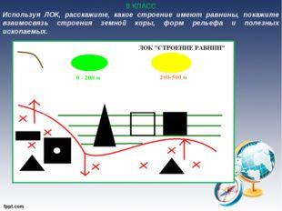 8 КЛАСС Используя ЛОК, расскажите, какое строение имеют равнины, покажите вза
