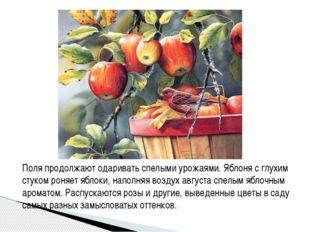 Поля продолжают одаривать спелыми урожаями. Яблоня с глухим стуком роняет ябл