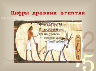 Цифры древних египтян