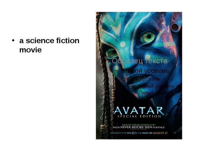 a science fiction movie
