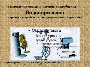 Виды приводов (привод – устройство приводящее машину в действие) 1. Ручной пр