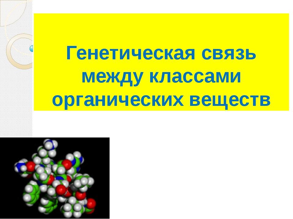 Генетическая связь между классами органических веществ