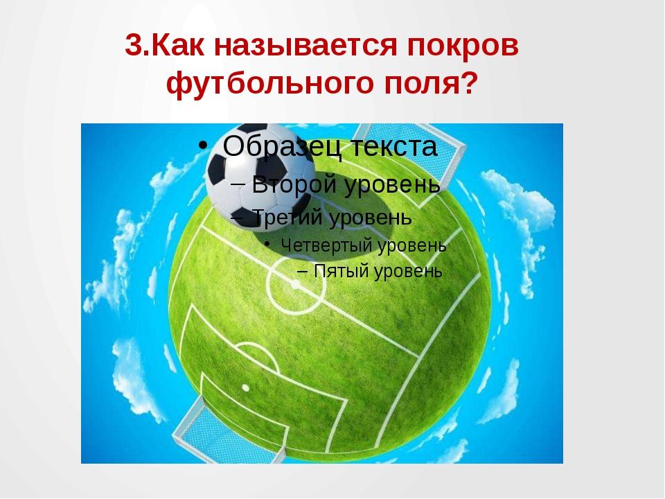 3.Как называется покров футбольного поля?
