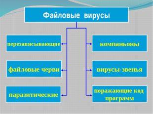 компаньоны Файловые вирусы перезаписывающие вирусы-звенья файловые черви пара