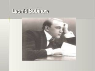 Leonid Sobinow