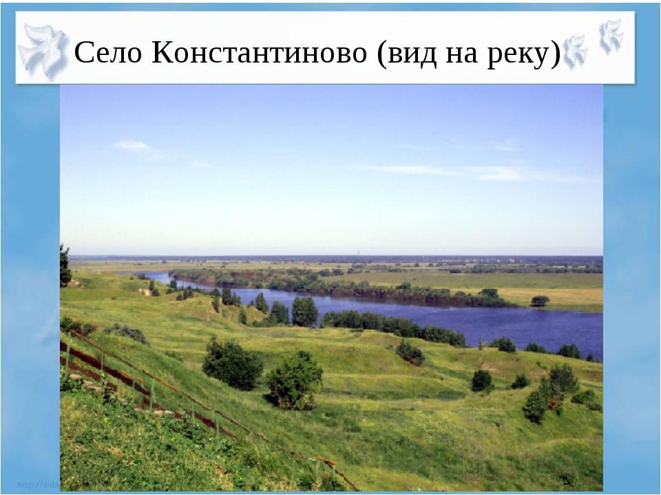 Село Константиново (вид на реку)