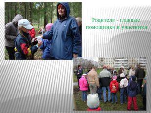 Родители - главные помощники и участники