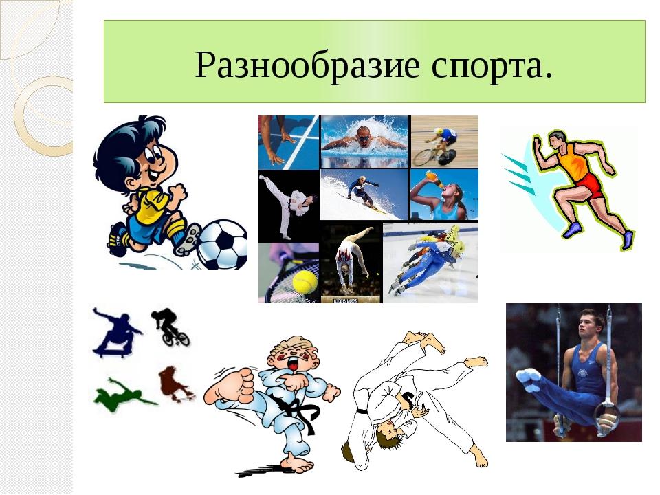 Разнообразие спорта.