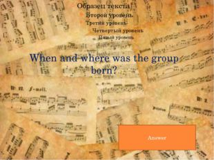 What was the theme of their first composition? Answer