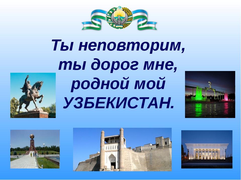 Реферат на тему мой край родной узбекистан 417